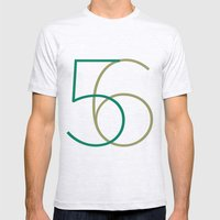 56 Mens Fitted Tee Ash Grey SMALL