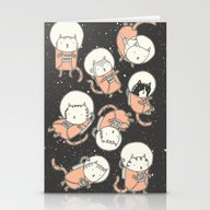 Cat-Stronauts Stationery Cards