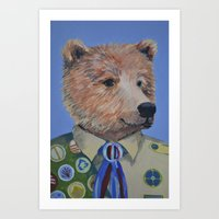 Grizzly Scout Art Print