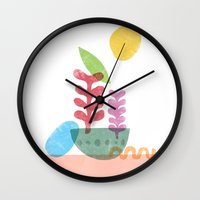 Still Life with Egg & Worm Wall Clock