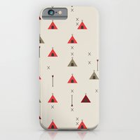 iPhone & iPod Case featuring TEE PEE - Tipi - NATIVE NAVAJO PRINT by peanutbuttajennie