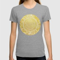 Medallion Pattern In Mus… Womens Fitted Tee Tri-Grey SMALL
