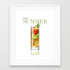 Taste Summer Framed Art Print