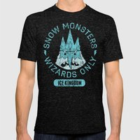 Bad Boy Club: Snow Monsters, Wizards Only Mens Fitted Tee Tri-Black SMALL