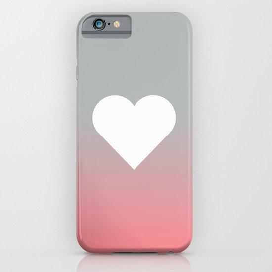 Peach Fade Heart iPhone & iPod Case