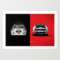 Group B Edition, N.º2, Lancia Delta S4 Art Print