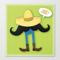 Mexstache Canvas Print