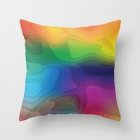 Psychedelic Land Throw Pillow