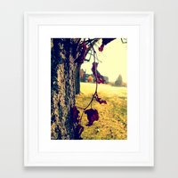 Red Leaf Framed Art Print