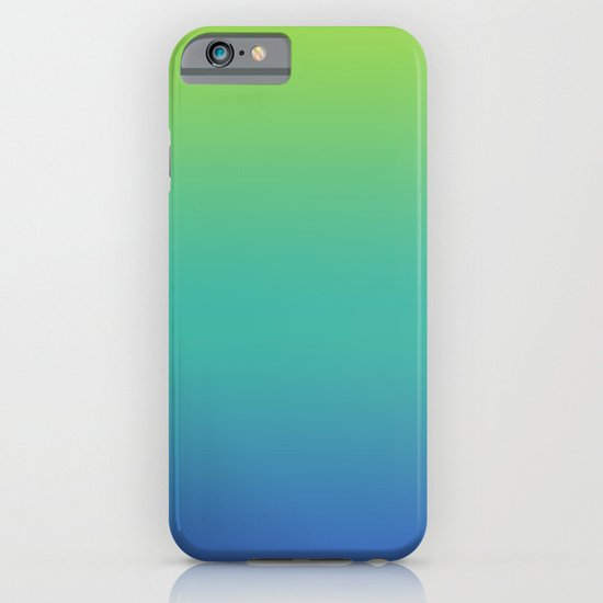 GREEN -> TEAL -> BLUE FADE iPhone & iPod Case