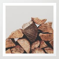 Firewood Art Print
