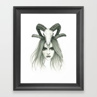 Zodiac - Aries Framed Art Print