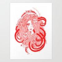 Rose Red.  Art Print