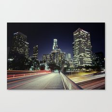 Black River, Your City Lights Shine Canvas Print
