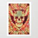 Geo Skull Art Print