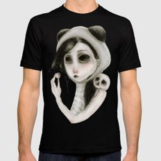 The inability to perceive with eyes notebook I SMALL Mens Fitted Tee Black