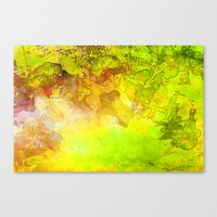 GOLDEN NATURE ORCHIDS Canvas Print