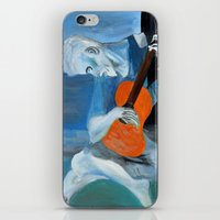 Picasso's Blue Man  iPhone & iPod Skin