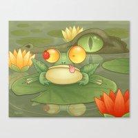 Swamp Snack Canvas Print