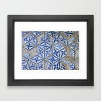 Tiling with pattern Framed Art Print