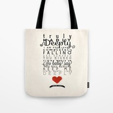 One Direction: Truly Mad… Tote Bag