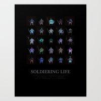 Soldiering Life Art Print