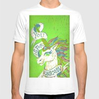 You Is For Unicorn Mens Fitted Tee White SMALL