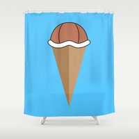 Choco Squirtle Shell Shower Curtain