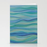 Surf Abstract Waves Stationery Cards