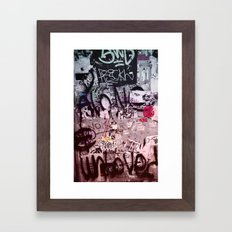 Writing's on the Wall Framed Art Print