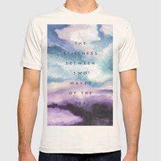 Stillness [Collaboration with Jacqueline Maldonado] Mens Fitted Tee Natural SMALL