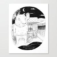 Night Bear  Canvas Print
