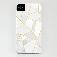 iPhone 4 Case featuring White Stone by Elisabeth Fredriksson