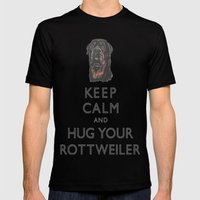 Keep Calm And Hug Your R… Mens Fitted Tee Black SMALL