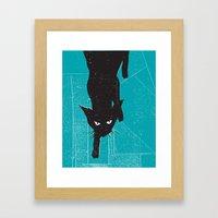 Black Kat Framed Art Print