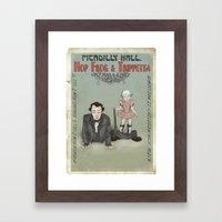 Hop Frog & Trippetta, half man and a half. Framed Art Print