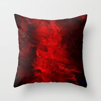 Red Cases Throw Pillow