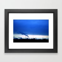 Industrial Skies Framed Art Print