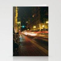 Portland Lights At Night Stationery Cards