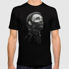 Hannibal Lecter SMALL Mens Fitted Tee Black