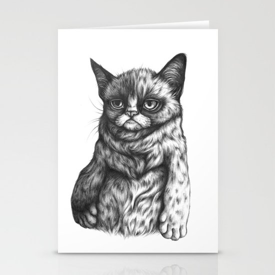 Tard the Grumpy Cat Stationery Card