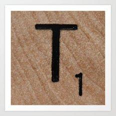 Tile T Art Print