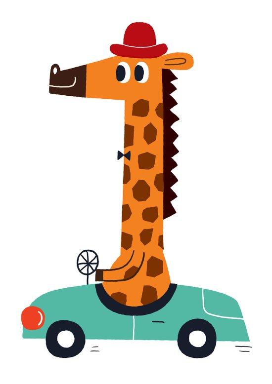giraffe driver Canvas Print
