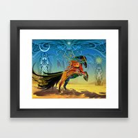 The Wind Of Time (Red Ho… Framed Art Print