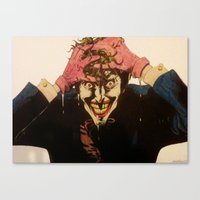 Canvas Print featuring Joker HAHAHA by DeMoose_Art