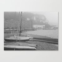 Canvas Print featuring Fog Over Dover by a.rochelle