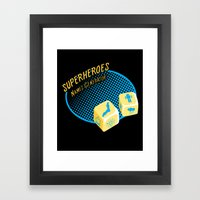 Super-Heroes-Name-Genera… Framed Art Print