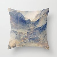 Tulle Mountains Throw Pillow