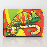 Christmas Chameleon iPad Case