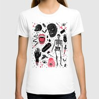 face T-shirts featuring Whole Lotta Horror by Josh Ln